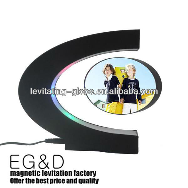 New style C shape magnetic floating photo frame, magnetic levitating picture frame