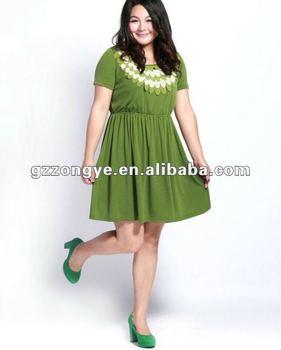 Fat Women's Summer Dress,Plus Size Clothes,Big Sizes Clothes Green ...