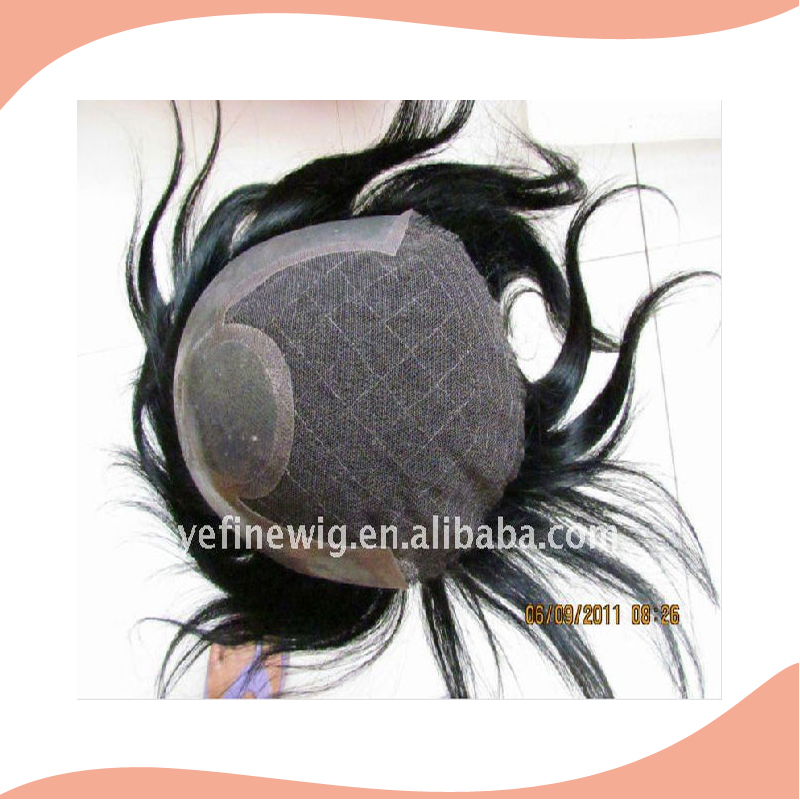 Wholesale Indian Hair A Mens Partial Crown Remy Hair Piece