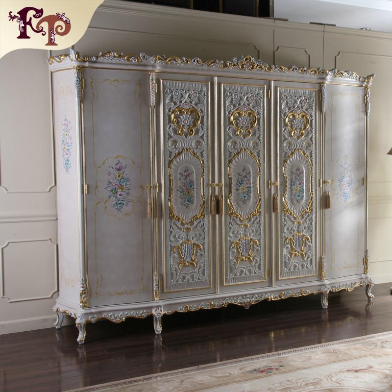 klassische italienische antike schlafzimmer m bel k nigliche klassischen kleiderschrank holz. Black Bedroom Furniture Sets. Home Design Ideas