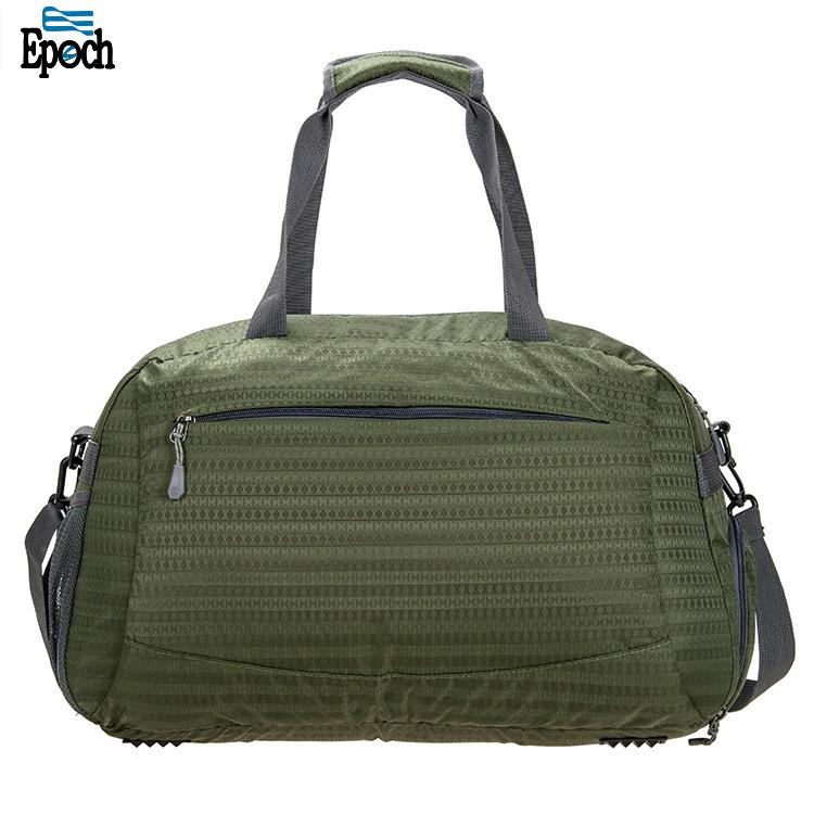 Quanzhou imperméable en nylon vert armée sac de voyage sac de sport avec compartiment à chaussures