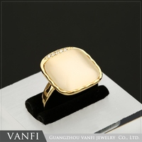 2016 Charming Vogue Jewelry Noble 18K Gold Plated Yellow Opal Gemstone Ring