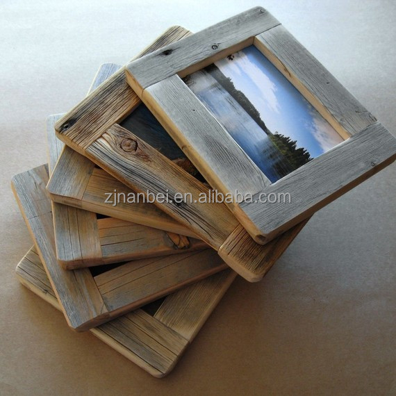 Custom rustic antique wooden photo frame,vintage wood frame