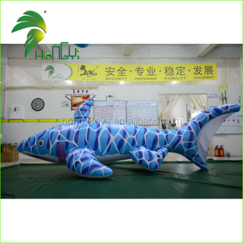 Hongy Inflatable Large Shark Toys / Bouncy Inflatable Animals Toys Shark /  Inflatable Bule Shark Pool