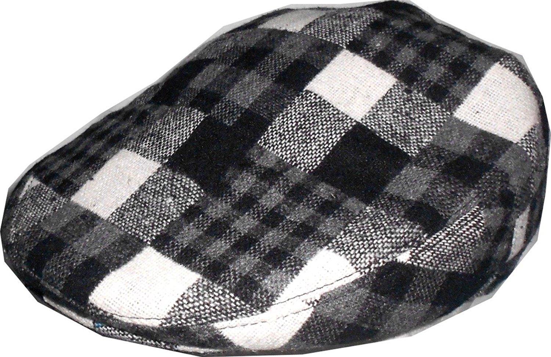 4df2e3e4e43 Mens Wool Blend Plaids Patchwork Ivy Black White Golf Driver Hat Irish  Hunting Gatsby Flat Cap