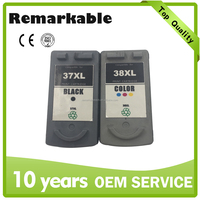 Wholesale price for Canon PG 37 CL38 compatible remanufactured ink cartridge for Canon PG37 CL38