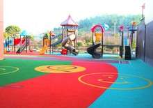 Colored EPDM Rubber granule/EPDM Rubber mulch for kids playground