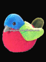 Hot sell cute and lovely stuffed plush colourful baby bird toy for kids