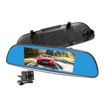 Slim Mirror Dual dash camera DVR ,HD 1080P video dash camera