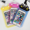 Free sample custom pvc water proof phone bag for unisex with neck strap