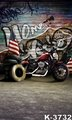 estudio fotografico Digital Backgrounds Cloth 5X7ft Motorcycle Props Vintage Photo Backdrops Flooring Stand On