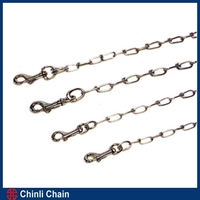 Tie Out Dog Chain,Chrome plated Dog Chain,Kennel chain with Snap Hook