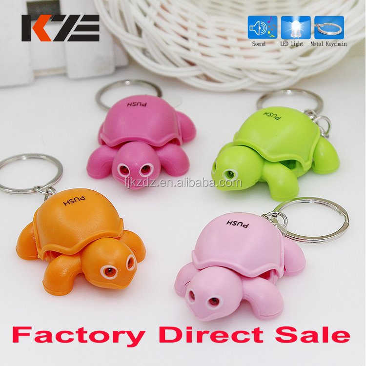 Animal Led Light Keychain Turtle Keychain With Led And Sound - Buy ... 5b11f1b7c