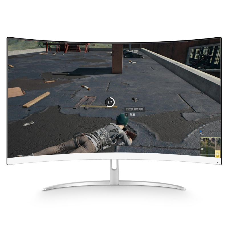 External adapter 2k gaming monitor led 27 inch curved