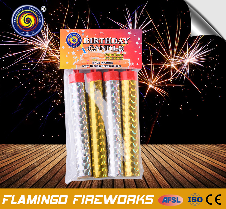 Chinses Fireworks With CE certificate 30S Smellless Ice Fountain cake fountain candles