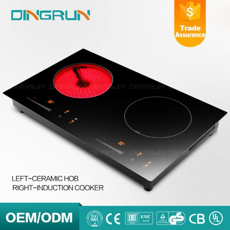 A-Grade Black Induction Cooker Crystal Top Plate