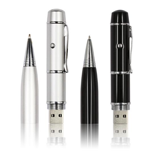 3 in 1 Cat Pet Laser Light Pen Shape Metal Usb Flash Drive 4Gb 8Gb 16Gb 32Gb 64Gb Usb 2.0 Pen Drive Memory Stick Pendrive U Disk