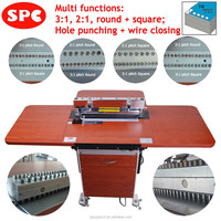 Electric paper binding machine for notebooks