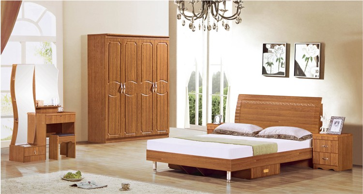 África estilo moderno simple modular MDF cama muebles de dormitorio ...