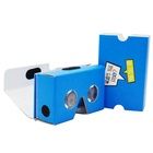 Discount Price Blue Foldable Cardboard Material 34mm Lens Custom vr Headset 3d Movie Google Glasses