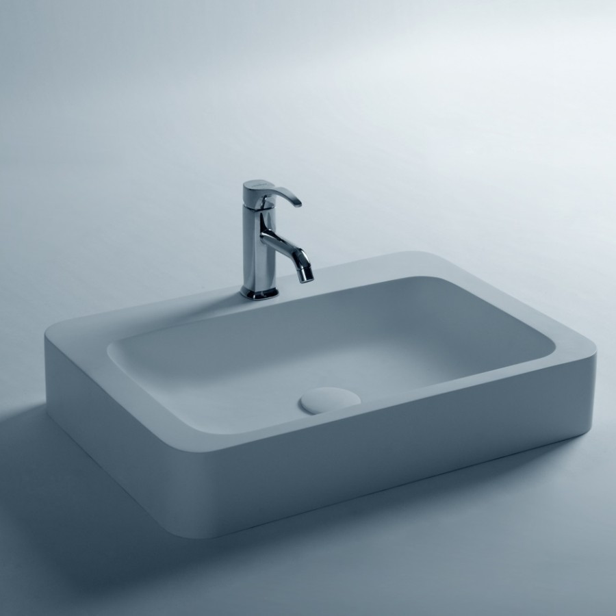 Low Cost High Quality White Color Acrylic Bathroom Sink