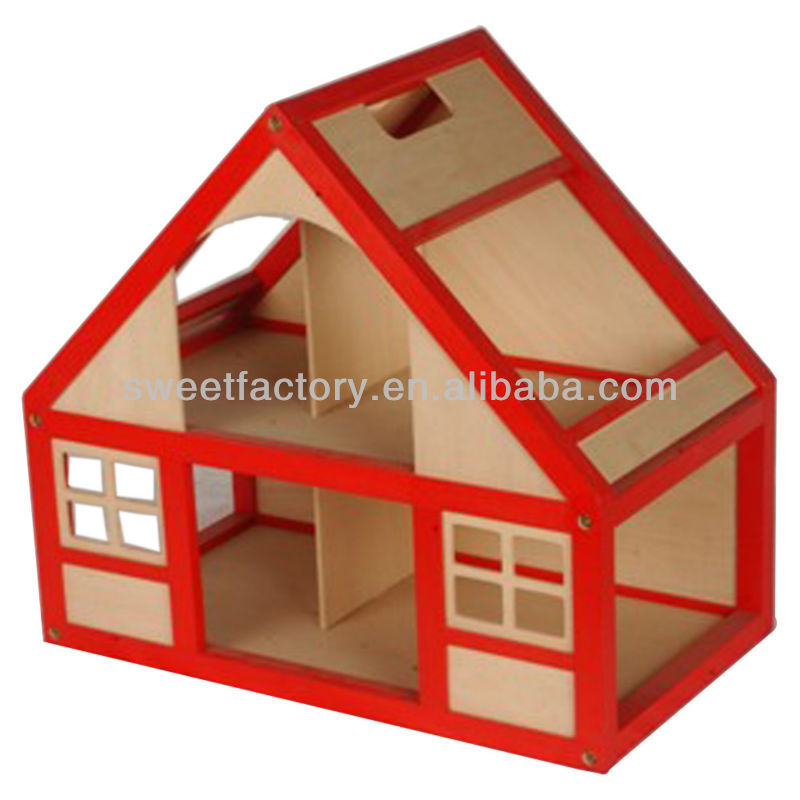 2-storey wooden doll house with furnitures