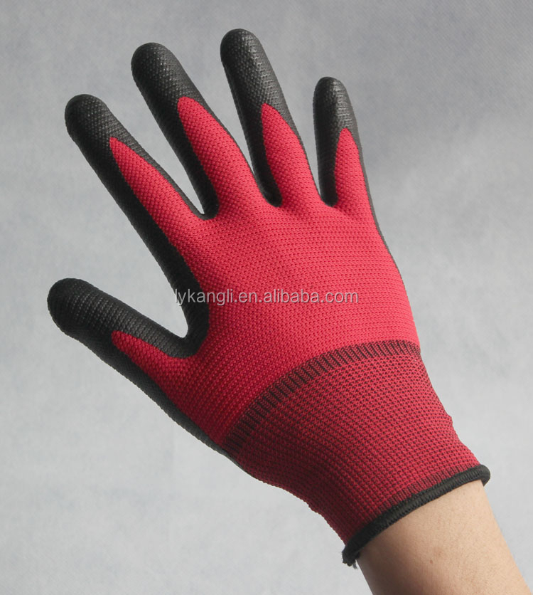 CE EN 374 nitrile coated gloves safety construction work safety gloves