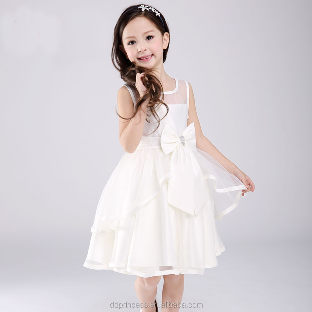 Girl/'s Bowknot Floral Princess Dress Kid Baby Party Wedding Pageant Dresses US