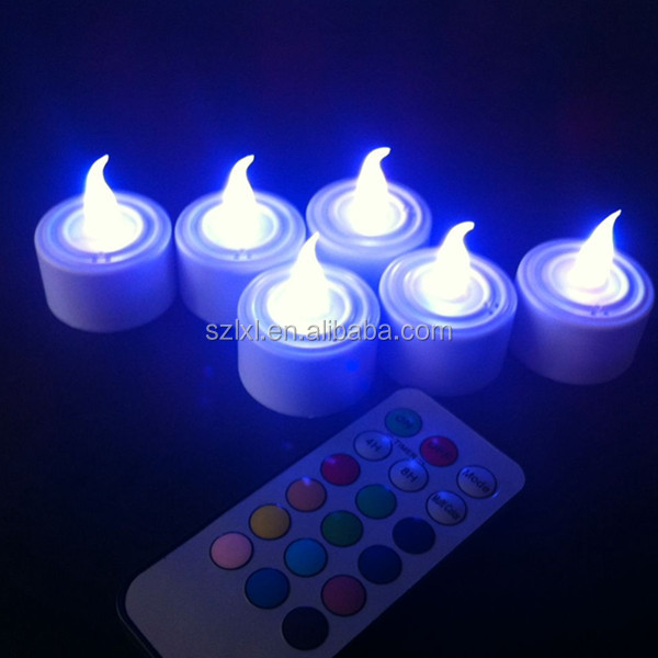 Battery Operated LED Remote Control Tealight Candle