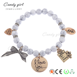 L1450 Candygirl brand women jewelry accessories gemstone beads bracelet charm bracelet