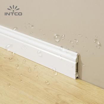 INTCO White Base Board Waterproof Decorative Flooring Skirting Moulding