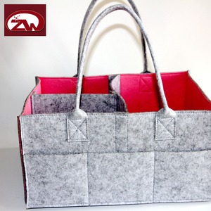 Eco friendly recyclable felt storage bags with interlayer