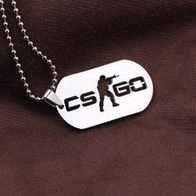 Games CS GO Stainless Steel Link Necklace For Men CSGO Anime Neckless Male Collier Homme Best Friends Statement Bijoux Jewelry
