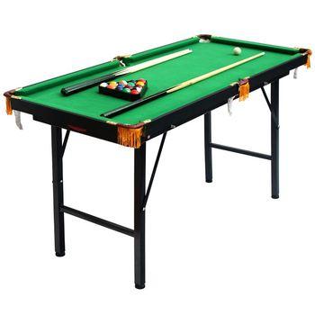 1.2M Height Adjustable And Folding American Pool Table Biilard Table Pool  Table For Kids Mini