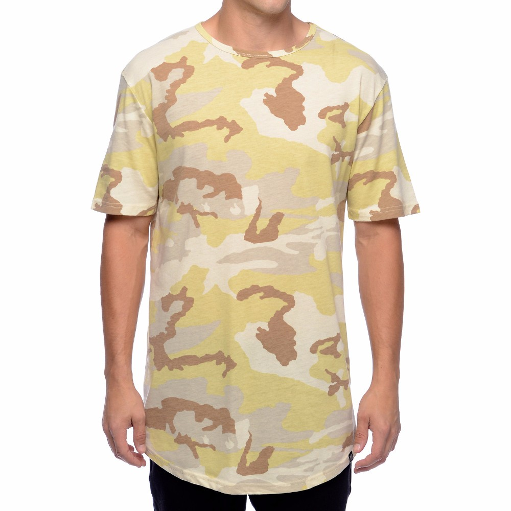 Guangzhou long design customize cotton men running sport for Camouflage t shirt design