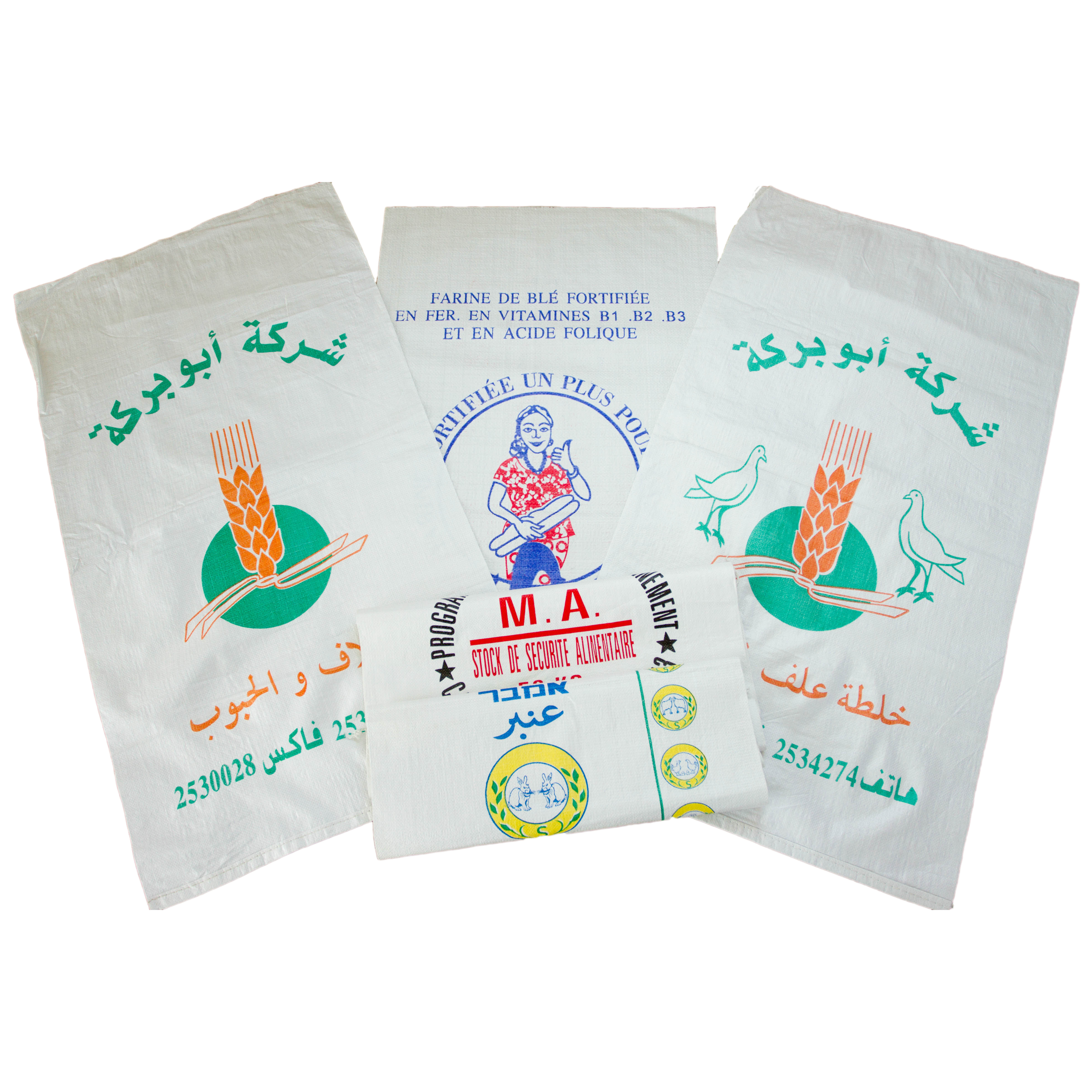 25kg Weight PP Woven Bag / Sacks Packaging Wheat Flour For Sale In Bulk