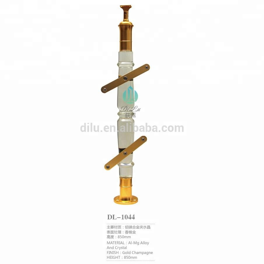 Exquisite Decorate round Crystal Stair Railing Pillars and Columns for wedding decorations