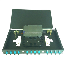 19 Inch Rack Mount Fixed Type 12 Core Fiber Patch Panel dengan SC <span class=keywords><strong>Adaptor</strong></span> dan Splice Tray
