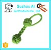 Puppy Dog Cotton Chew Toys Bone Teeth Cleaning Pet Rope Toy with Tug Double Ball Knot