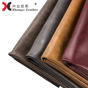 2019 Leather Products Rexine Fabric Vintage Nubuck Faux Synthetic PU Embossed Leather Fake Calf Leather For Shoe Bag 58202