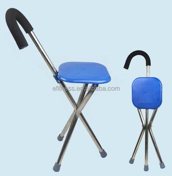 Multifonctionnel Bequille Trois Pieds Avec Tabouret Canne Trepied Chaise