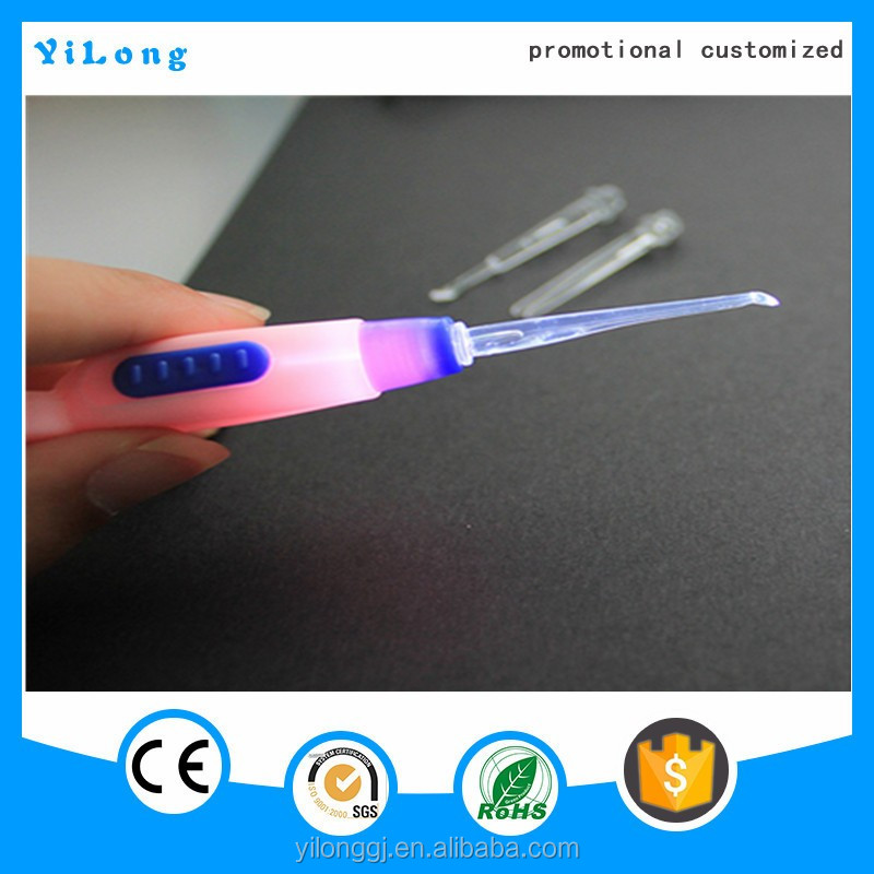 creative led flashlight earpick for promotion Logo LED Flashlight Earpick