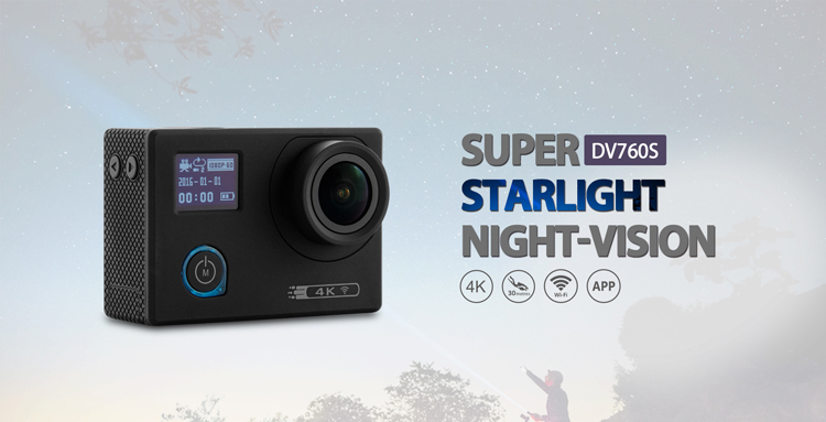 Action Camera in 1080p or 4K Quality with good equipment and competitive price