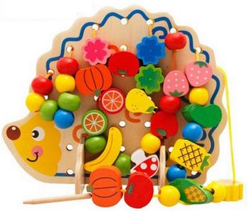 juguete Verduras Y Buy Con Frutas Para 3 Niños Ensartar Educativo De Madera Arriba Juguete Juguetes Cordón Erizo Años Madera A4R35jL