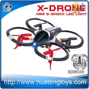 Small drone quadcopter with LED light RC helicopter drone for hot sale