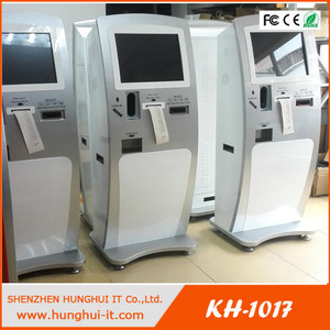 receipt printer and note acceptor touch screen self-service kiosk for bill payment