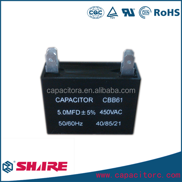 Fan Capacitor Cbb61 2 Wires 3.5 Uf 4uf 4.5uf 5uf 6uf 8uf 10uf 12uf ...