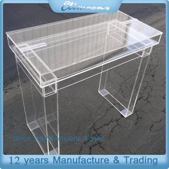 Factory Custom Clear Acrylic Dining Table Base/Transparent Home Plastic  Furniture For Living Room
