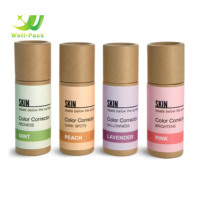 Customized eco friendly cosmetic containers deodorant stick container paper tube for lip balm