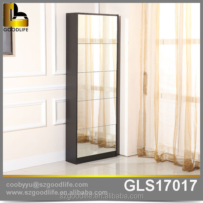 funiture mirrored 5 drawers tall shoe cabinet wholesale buy tall shoe cabinetshoe cabinet with shoe cabinet with mirror product on alibaba
